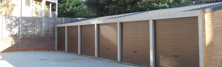 Garages and parking spaces