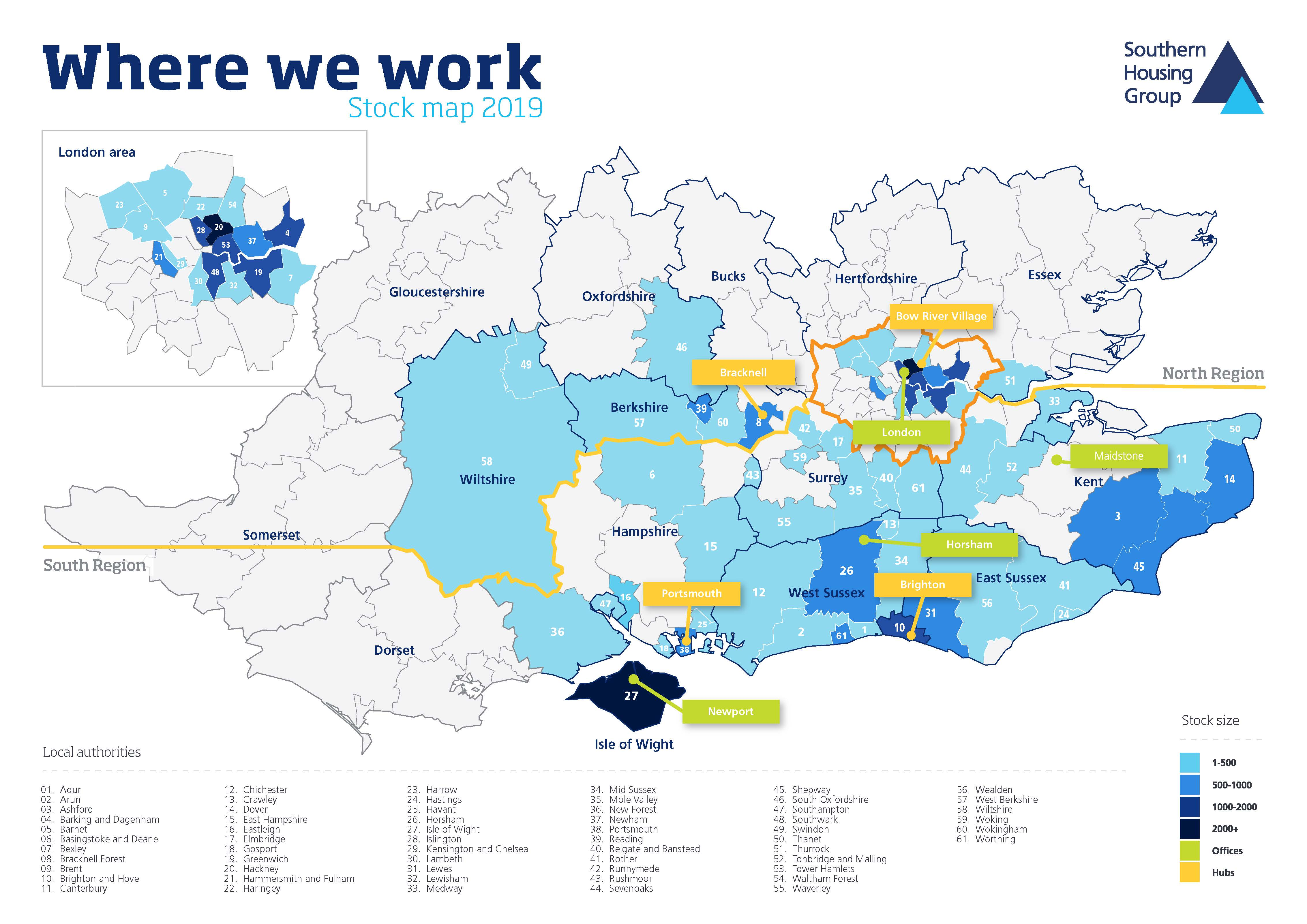 Map Of Uk Local Authorities.Where We Work