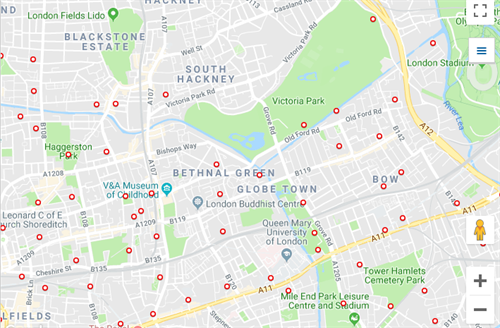 Cycle Hire Places